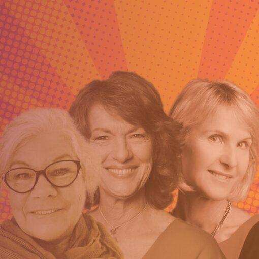 Barbara O'neill, Geraldine Doogue and Christine David