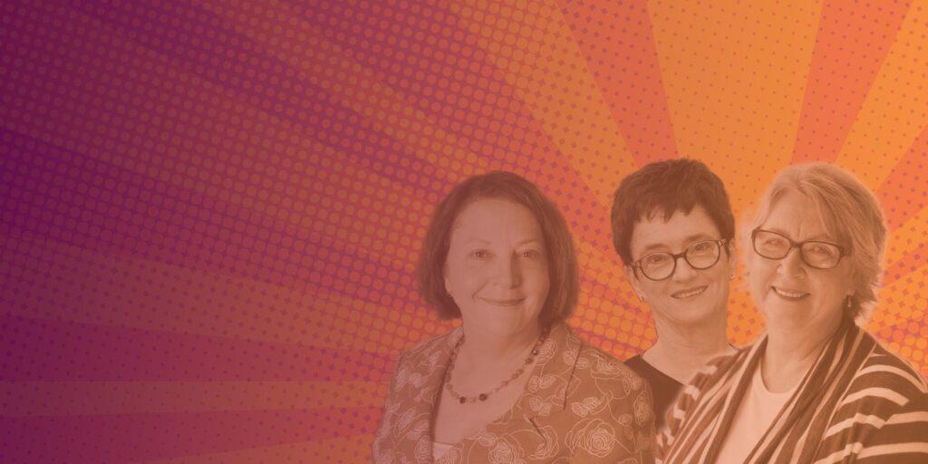 Alice Mantel, Cheryl Kernot and Susan Kurrle