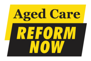 Aged Care - Reform Now logoj